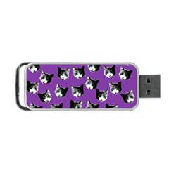 Cat Pattern Portable Usb Flash (one Side) by Valentinaart