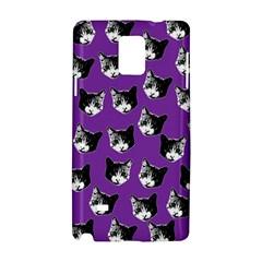 Cat Pattern Samsung Galaxy Note 4 Hardshell Case by Valentinaart