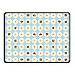 Ladybugs Pattern Fleece Blanket (small) by linceazul