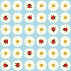Ladybugs Pattern Magic Photo Cubes by linceazul
