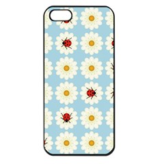 Ladybugs Pattern Apple Iphone 5 Seamless Case (black) by linceazul