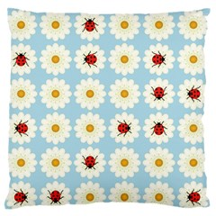 Ladybugs Pattern Standard Flano Cushion Case (two Sides) by linceazul