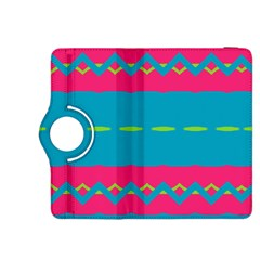 Blue Green Chains  Kindle Fire Hdx Flip 360 Case by LalyLauraFLM