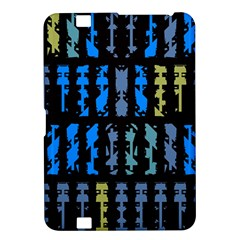 Blue Shapes On A Black Background  Samsung Galaxy Premier I9260 Hardshell Case by LalyLauraFLM