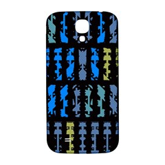 Blue shapes on a black background  Samsung Note 2 N7100 Hardshell Back Case by LalyLauraFLM