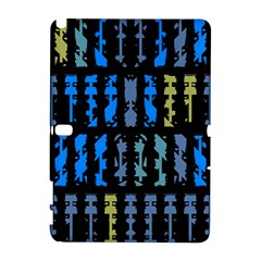 Blue shapes on a black background  HTC Desire 601 Hardshell Case by LalyLauraFLM