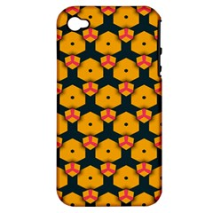 Yellow Pink Shapes Pattern   Apple Iphone 3g/3gs Hardshell Case (pc+silicone) by LalyLauraFLM