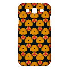 Yellow pink shapes pattern   Samsung Galaxy Duos I8262 Hardshell Case by LalyLauraFLM