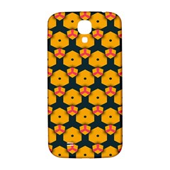 Yellow pink shapes pattern   Samsung Note 2 N7100 Hardshell Back Case by LalyLauraFLM