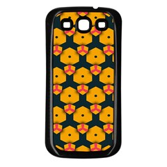 Yellow Pink Shapes Pattern   Samsung Galaxy S3 Back Case (white) by LalyLauraFLM