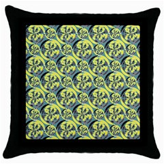 Black And Yellow Pattern Throw Pillow Case (black) by linceazul