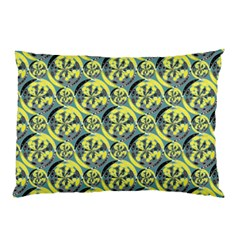Black And Yellow Pattern Pillow Case by linceazul