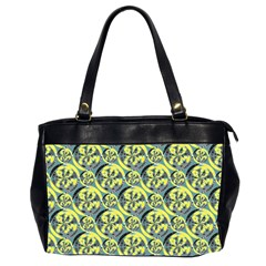 Black And Yellow Pattern Office Handbags (2 Sides)  by linceazul