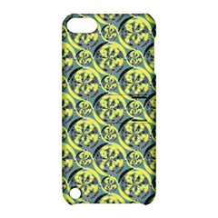 Black And Yellow Pattern Apple Ipod Touch 5 Hardshell Case With Stand by linceazul