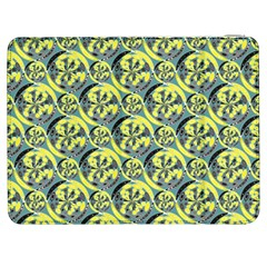 Black And Yellow Pattern Samsung Galaxy Tab 7  P1000 Flip Case by linceazul