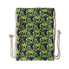 Black And Yellow Pattern Drawstring Bag (small) by linceazul