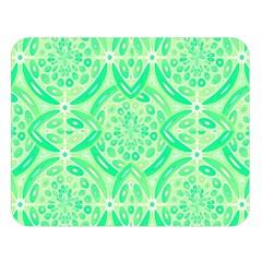 Kiwi Green Geometric Double Sided Flano Blanket (large)  by linceazul