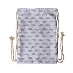 Pop Art Style Crabs Motif Pattern Blob Drawstring Bag (small) by dflcprints