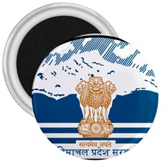 Seal Of Indian Sate Of Himachal Pradesh 3  Magnets by abbeyz71