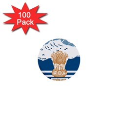 Seal Of Indian Sate Of Himachal Pradesh 1  Mini Buttons (100 Pack)  by abbeyz71