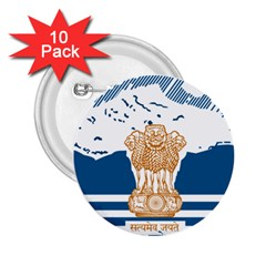 Seal Of Indian Sate Of Himachal Pradesh 2 25  Buttons (10 Pack)  by abbeyz71