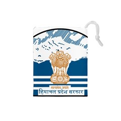Seal Of Indian Sate Of Himachal Pradesh Drawstring Pouches (small)  by abbeyz71