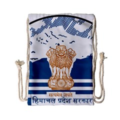 Seal Of Indian Sate Of Himachal Pradesh Drawstring Bag (small) by abbeyz71
