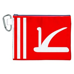 Flag Of Indian State Of Jammu And Kashmir  Canvas Cosmetic Bag (xxl) by abbeyz71