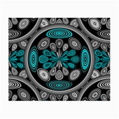 Geometric Arabesque Small Glasses Cloth by linceazul
