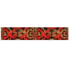 Red And Brown Pattern Flano Scarf (large) by linceazul