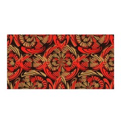 Red And Brown Pattern Satin Wrap by linceazul