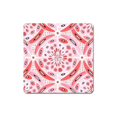 Geometric Harmony Square Magnet by linceazul