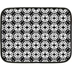 Geometric Modern Baroque Pattern Double Sided Fleece Blanket (mini)  by dflcprints