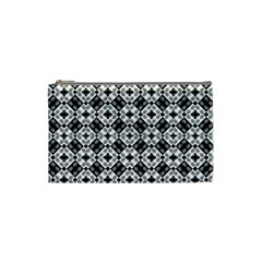 Geometric Modern Baroque Pattern Cosmetic Bag (small)  by dflcprints