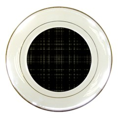 Plaid Design Porcelain Plates by Valentinaart
