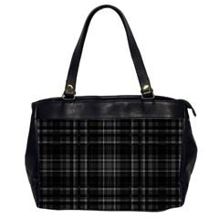 Plaid Design Office Handbags (2 Sides)  by Valentinaart