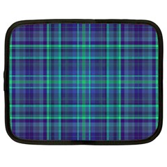Plaid Design Netbook Case (large) by Valentinaart