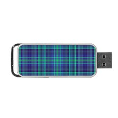 Plaid Design Portable Usb Flash (two Sides) by Valentinaart