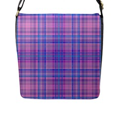 Plaid Design Flap Messenger Bag (l)  by Valentinaart