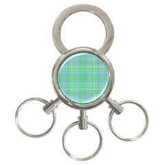 Plaid Design 3 Ring Key Chains by Valentinaart