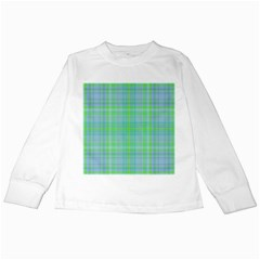 Plaid Design Kids Long Sleeve T Shirts by Valentinaart