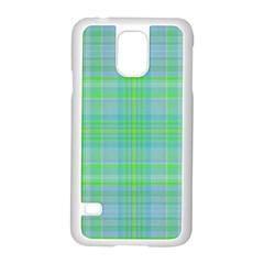 Plaid Design Samsung Galaxy S5 Case (white) by Valentinaart