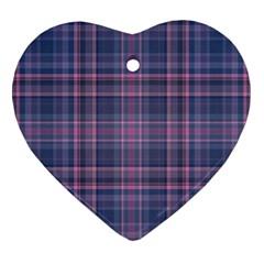 Plaid Design Ornament (heart) by Valentinaart
