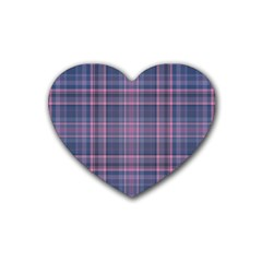 Plaid Design Heart Coaster (4 Pack)  by Valentinaart
