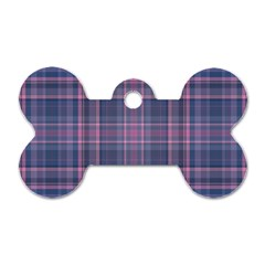 Plaid Design Dog Tag Bone (two Sides) by Valentinaart