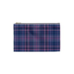 Plaid Design Cosmetic Bag (small)  by Valentinaart