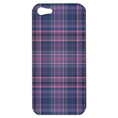 Plaid Design Apple Iphone 5 Hardshell Case by Valentinaart