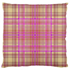 Plaid Design Large Cushion Case (one Side) by Valentinaart