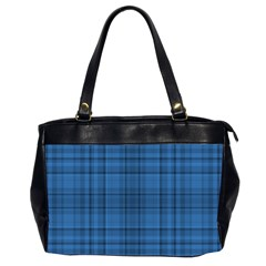Plaid Design Office Handbags (2 Sides)  by Valentinaart