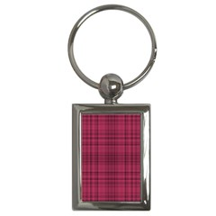 Plaid Design Key Chains (rectangle)  by Valentinaart